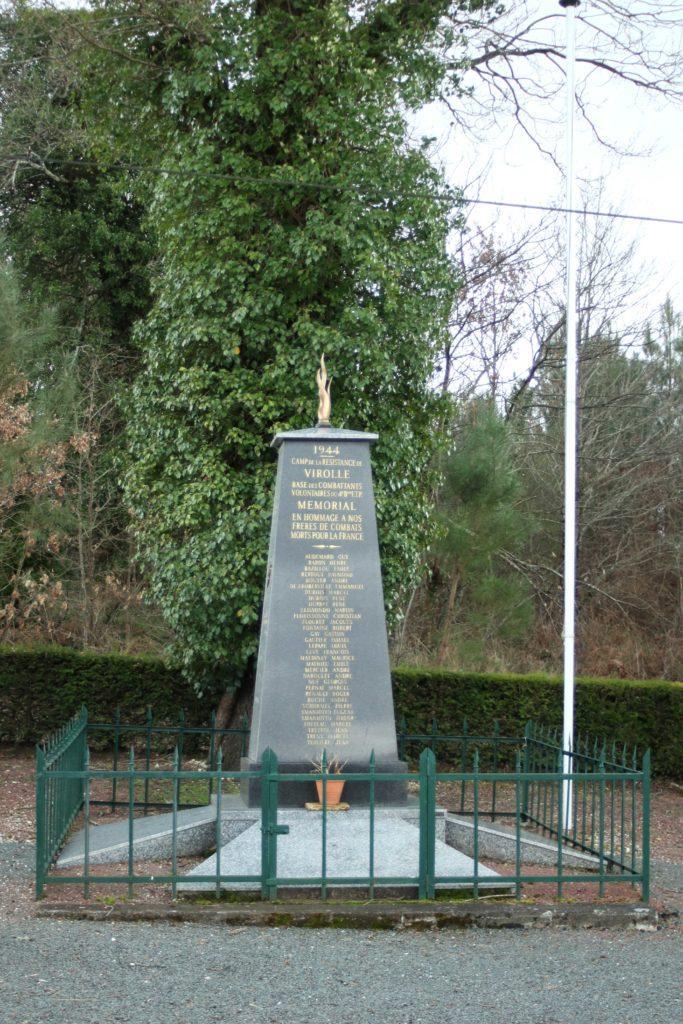 Stèle du camp de Virolle