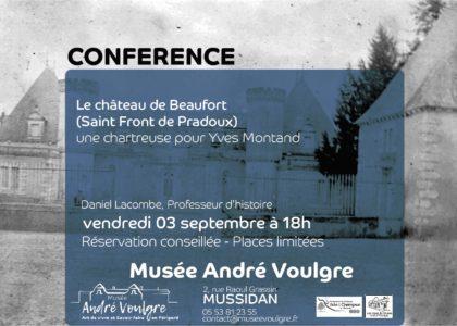 Affiche de la conférence sur le château de Beaufort